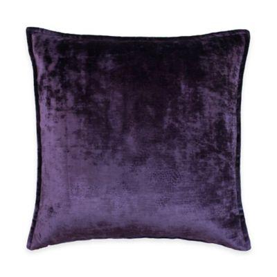 Austin Horn Classics Escapade Velvet Square Throw Pillow in Purple
