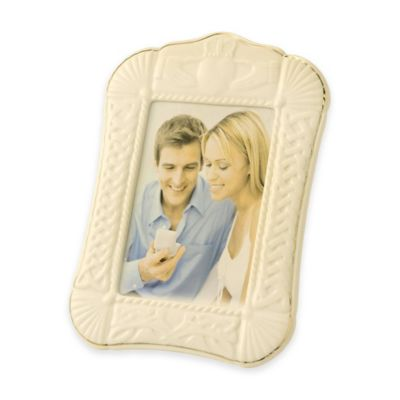 Belleek Claddagh 5-Inch x 7-Inch Picture Frame