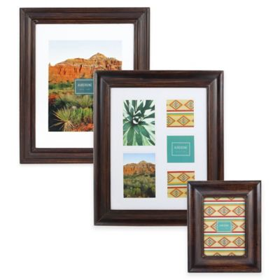 Aubergine Lawton 11-Inch x 14-Inch Wood Picture Frame in Espresso
