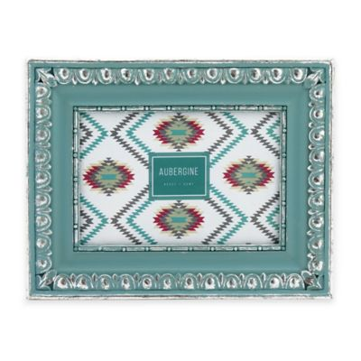 Aubergine Yucca 4-Inch x 6-Inch Picture Frame in Turquoise