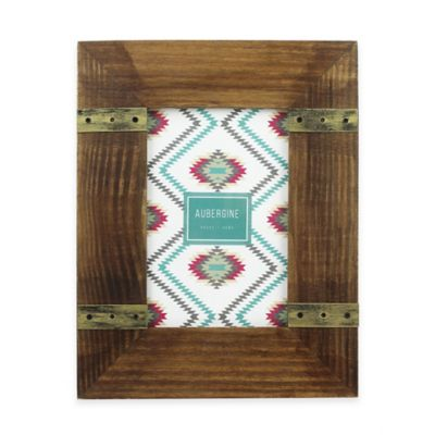 Aubergine Dakota 4-Inch x 6-Inch Wood Frame in Walnut
