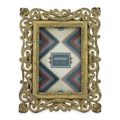 Aubergine Cheyenne 4-Inch x 6-Inch Frame in Rustic Gold