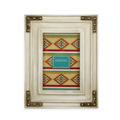 Aubergine Beacon 4-Inch x 6-Inch Weathered Wood Picture Frame in Oak