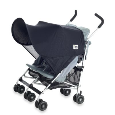 Stroller Accessories > Protect-a-Bub™ Black UPF 50+ Classic Twin Stroller & Jogger Sunshade