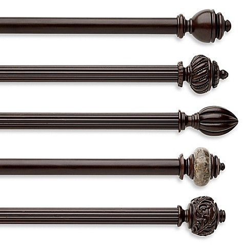cambria chocolate fluted wood pole decorative window