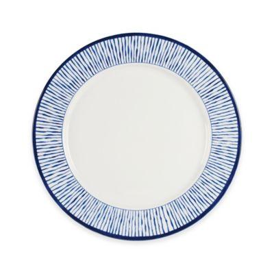 Everyday White® Bistro Blue Stripe Dinner Plate