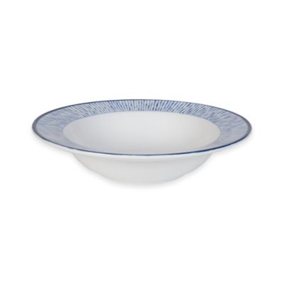 Everyday White® Bistro Blue Stripe Rim Soup Bowl