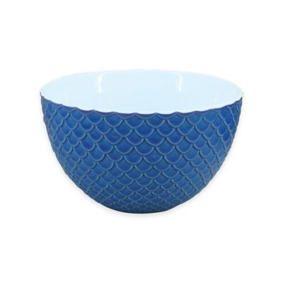 Everyday White® Bistro Blue Scallop Texture Bowl