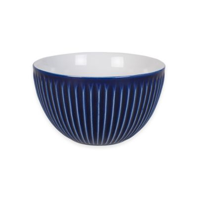 Everyday White® by Fitz and Floyd® Bistro Blue Line Texture Bowl