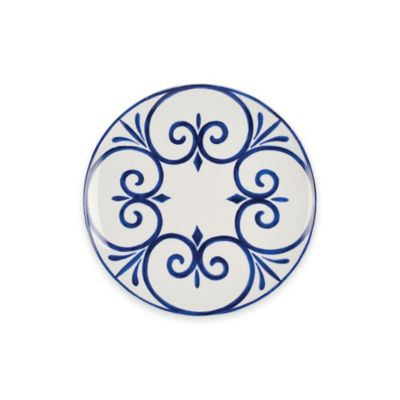 Blue Multi Salad Plate