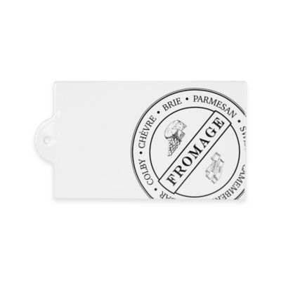 Everyday White® Bistro Black Rectangular Cheese Board