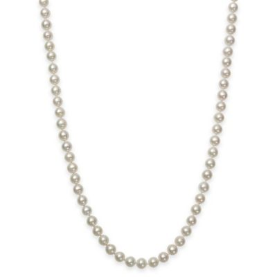 7-7.5mm Freshwater Cultured Pearl 20-Inch Strand Necklace