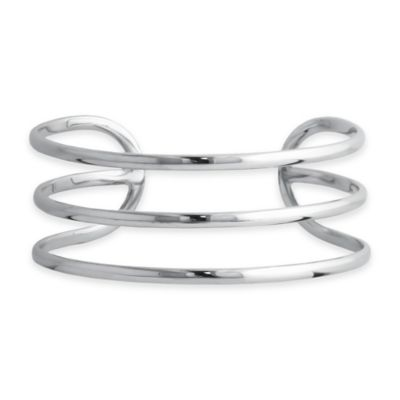 Sterling Silver Adjustable Triple Wire Cuff Bracelet