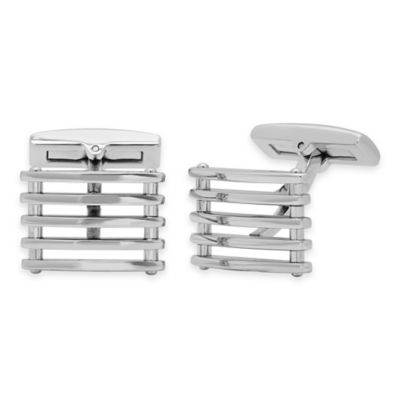 Stainless Steel Stacked Bars Cufflinks