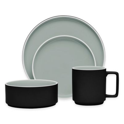 Noritake® ColorTrio Stax 4-Piece Place Setting in Graphite