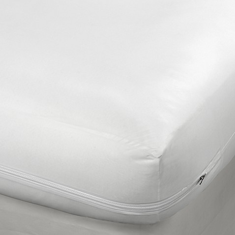 Vinyl Zippered 16 Inch Mattress Protector Bed Bath Amp Beyond