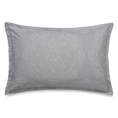 Barbara Barry® Lace Crystal King Pillow Sham in Frost