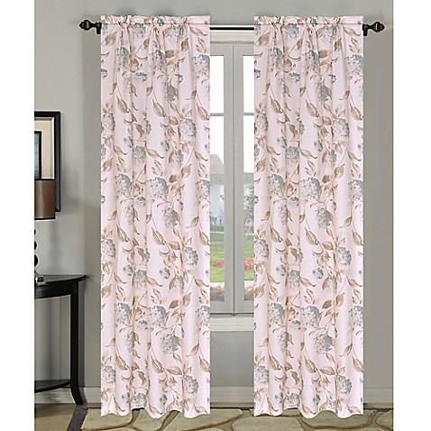 hydrangea duck egg 84 inch window curtain panel pair in