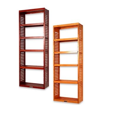 Mahogany Adjustable Storage Shelves