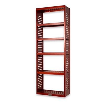 John Louis Home Standard Stand Alone Tower with Adjustable Shelves in Red Mahogany