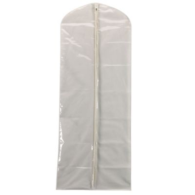 Household Essentials® Canvas Gown Bag with Plastic Front in Natural