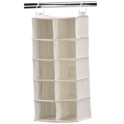 Household Essentials® 10-Pocket Double Wide Hanging Shoe Organizer in Natural