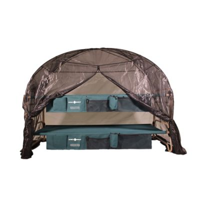 Disc-O-Bed™ Mosquito Net and Frame in Black/Green