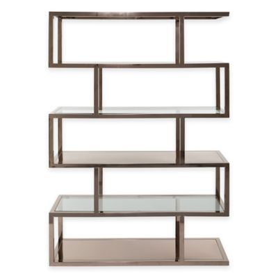 Gulliver Bookcase in Chocolate-Plated Stainless Steel
