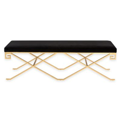 Talita Bench in Black Velvet