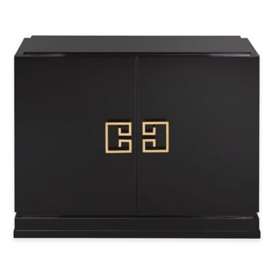 Winslow 2-Drawer Cabinet in Black