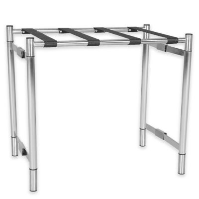 Metal Luggage Rack in Silver