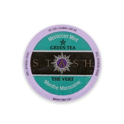 Two Rivers Coffee Co. 18-Count Moroccan Mint Green Tea for Single Serve Coffee Makers