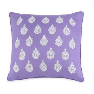 Jessica Simpson Mosaic Border Square Throw Pillow