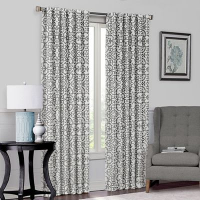 Solar Shield Lennox 84-Inch Room-Darkening Window Curtain Panel in Black