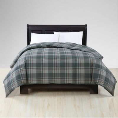 Plaid King Down Bedding