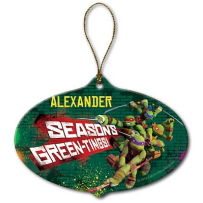 "Nickelodeon™ Teenage Mutant Ninja Turtles ""Season's Green-Tings"" Christmas Ornament"