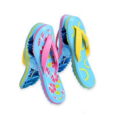 Boca Clips® Hibiscus Flip Flop (Set of 2)