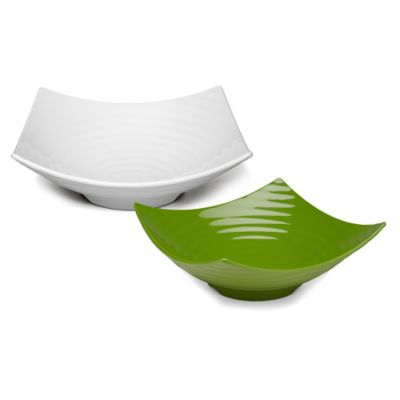 Q-Squared Zen Serving Bowl in Green