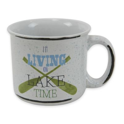 "Boston Warehouse® ""I'm Living on Lake Time"" Mug"