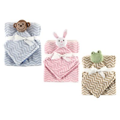 BabyVision® Hudson Baby® Monkey Security Blanket Set