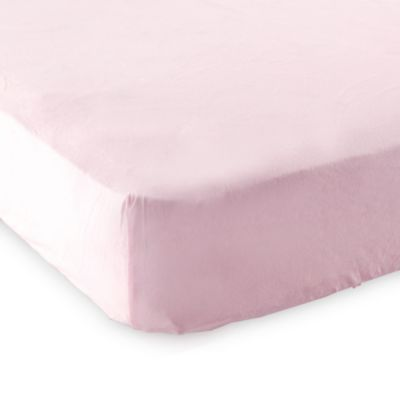 Baby Vision® Luvable Friends® Knitted Cotton Portable Crib Fitted Sheet in Pink