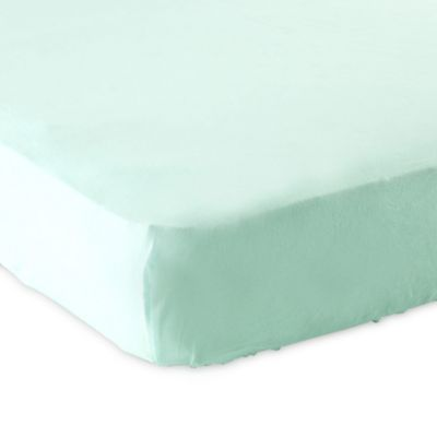 BabyVision® Luvable Friends® Knitted Cotton Fitted Crib Sheet in Mint