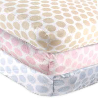BabyVision® Luvable Friends® Flannel Fitted Crib Sheet in Tan