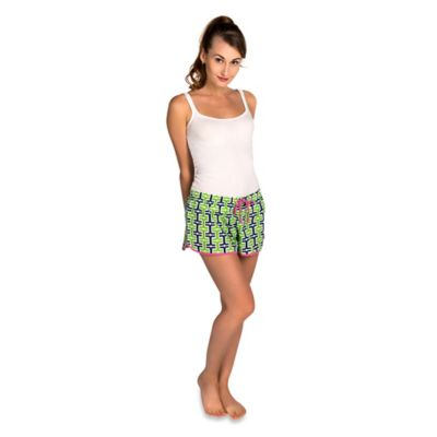 Extra-Large Penny Women's Boxer Short in Navy/Green