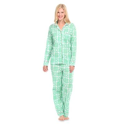 Isabelle Small Women's 2-Piece Pajama Pant Set in Green