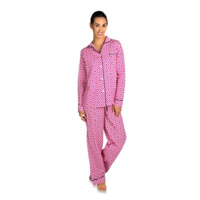 Hopi Small Women's 2-Piece Pajama Pant Set in Pink