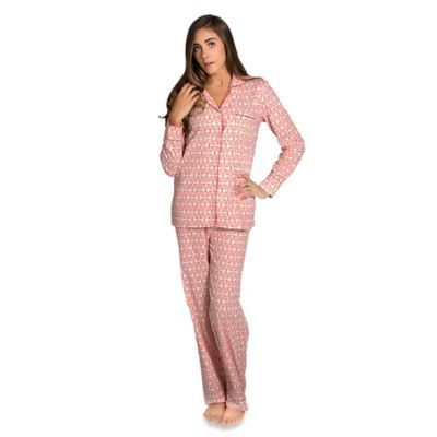 Alice Small Women's 2-Piece Pajama Pant Set in Coral Pink