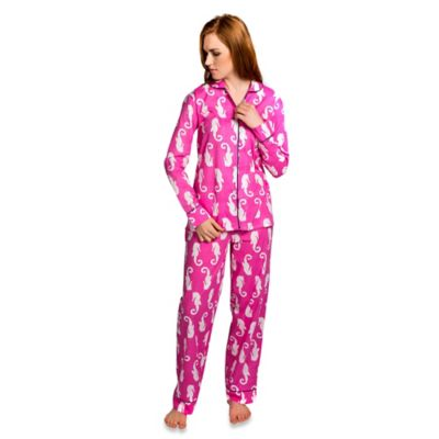 Monterey Small Women's 2-Piece Pajama Pant Set in Coral Pink