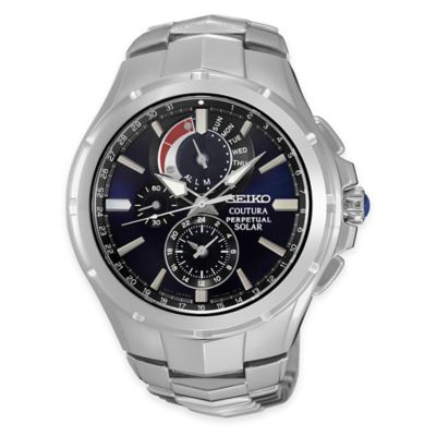 Seiko Men's Coutura Perpetual Solar Chronograph Bracelet Watch in Stainless Steel