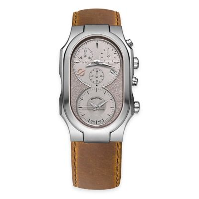 Philip Stein Men's Swiss Signature Chronograph Watch in Brushed Stainless Steel